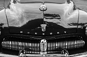 Collector Hood Ornament Metal Prints - 1949 Mercury Coupe Grille - Hood Ornament - Emblems Metal Print by Jill Reger