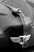 Champion Photo Prints - 1949 Studebaker Champion Hood Ornament Print by Jill Reger