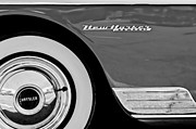 Wheel Posters - 1950 Chrysler New Yorker Coupe Wheel Emblem Poster by Jill Reger