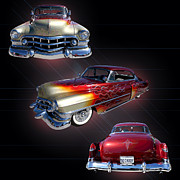Caddy Framed Prints - 1950 Coupe de Ville Framed Print by Jim Carrell