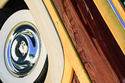 Custom Ford Photos - 1950 Ford Custom Deluxe Woodie Station Wagon Wheel by Jill Reger