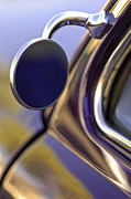 Car Detail Prints - 1950 Mercury Custom Lead Sled Side Mirror Print by Jill Reger