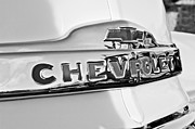 1952 Framed Prints - 1952 Chevrolet Hood Emblem Framed Print by Jill Reger