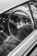 Beach Photographs Prints - 1952 Ferrari 212 Inter Vignale Coupe Steering Wheel Emblem Print by Jill Reger
