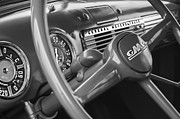 Gmc Photo Posters - 1952 GMC Suburban Steering Wheel Emblem Poster by Jill Reger
