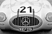 Black And White Photography Metal Prints - 1952 Mercedes-Benz W194 Coupe Metal Print by Jill Reger
