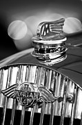 Black And White Photos Photos - 1952 Morgan Plus 4 Hood Ornament and Emblem by Jill Reger
