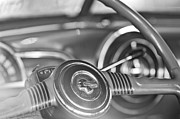 Steering Framed Prints - 1952 Pontiac Chieftain Steering Wheel Emblem Framed Print by Jill Reger