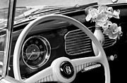 Steering Posters - 1952 Volkswagen VW Bug Steering Wheel Poster by Jill Reger