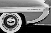 Belair Posters - 1953 Chevrolet Belair Wheel Emblem Poster by Jill Reger