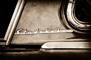 Champion Photo Prints - 1953 Studebaker Champion Starliner Side Emblem Print by Jill Reger