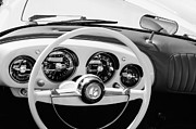 1954 Prints - 1954 Kaiser-Darrin Roadster Steering Wheel Print by Jill Reger