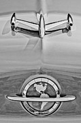 Collector Hood Ornament Posters - 1954 Oldsmobile Super 88 Hood Ornament Poster by Jill Reger
