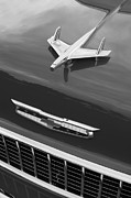 White Chevy Photos - 1955 Chevrolet 210 Resto Mod Hood Ornament - Emblem by Jill Reger
