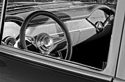 Steering Framed Prints - 1955 Chevrolet 210 Steering Wheel Framed Print by Jill Reger