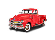 Chevy 3100 Framed Prints - 1955 Chevrolet 3100 Pick Up Truck Framed Print by Jack Pumphrey