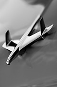 Car Abstract Photo Prints - 1955 Chevrolet Belair Nomad Hood Ornament Print by Jill Reger