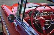 Steering Prints - 1955 Chevrolet Belair Steering Wheel Print by Jill Reger