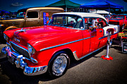 Red Street Rod Photos - 1955 Chevy Bel Air by David Patterson