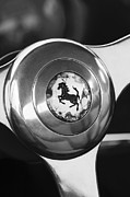 Images Of Cars Prints - 1955 Ferrari 250 Europa GT Pinin Farina Berlinetta Steering Wheel Emblem Print by Jill Reger