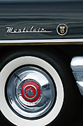 Old Photos Framed Prints - 1955 Mercury Montclair Convertible Wheel Emblem Framed Print by Jill Reger