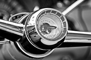 Steering Prints - 1955 Pontiac Safari Steering Wheel Emblem Print by Jill Reger