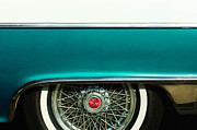 55 Posters - 1955 Pontiac Star Chief Wheel Emblem Poster by Jill Reger