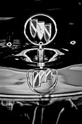 Buick Framed Prints - 1956 Buick Special Hood Ornament Framed Print by Jill Reger