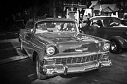 Cruiser Framed Prints - 1956 Chevrolet Bel Air 210 BW Framed Print by Rich Franco