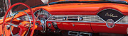 Custom Chevy Photos - 1956 Chevrolet Belair Convertible Custom V8 Dashboard by Jill Reger