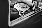 Dashboard Prints - 1956 Chevrolet Belair Nomad Dashboard Clock Print by Jill Reger
