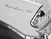 Belair Posters - 1956 Chevrolet Belair Nomad Taillight Emblem Poster by Jill Reger