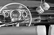 Steering Prints - 1956 Chevrolet Belair Steering Wheel  Print by Jill Reger