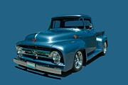 1956 Ford Truck Framed Prints - 1956 Ford F100 Pickup Truck Framed Print by Tim McCullough