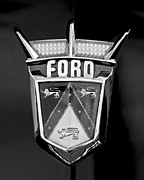 Fairlane Photos - 1956 Ford Fairlane Emblem by Jill Reger