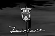 Fairlane Photos - 1956 Ford Fairlane Hood Emblem by Jill Reger