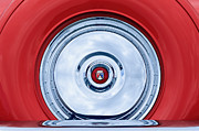 Thunderbird Photos - 1956 Ford Thunderbird Spare Tire Emblem by Jill Reger