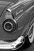 Black And White Photos Photos - 1956 Ford Thunderbird Taillight and Emblem by Jill Reger