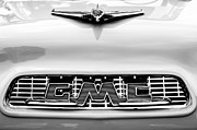 Collector Cars Posters - 1956 GMC 100 Deluxe Edition Pickup Truck Hood Ornament - Grille Emblem Poster by Jill Reger