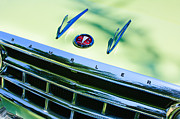 Wagon Photo Prints - 1956 Hudson Rambler Station Wagon Grille Emblem - Hood Ornament Print by Jill Reger