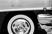 Monterey Prints - 1956 Mercury Monterey 2-Door Hardtop Wheel Emblems Print by Jill Reger