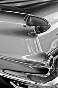 Black And White Photos Posters - 1956 Oldsmobile Taillight Poster by Jill Reger