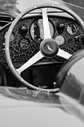 D.w. Photo Posters - 1957 Aston Martin DBR2 Steering Wheel Poster by Jill Reger