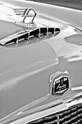 Black And White Photos Photos - 1957 Austin Cambrian 4 Door Saloon Hood Ornament and Emblem by Jill Reger