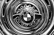 Bmw Vintage Cars Prints - 1957 BMW Wheel Emblem Print by Jill Reger