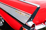 Bel Air Prints - 1957 Chevrolet Belair Convertible Taillight Emblem Print by Jill Reger
