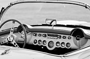 White Chevy Photos - 1957 Chevrolet Corvette Roadster Dashboard by Jill Reger