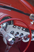 1957 Corvette Photos - 1957 Chevrolet Corvette Steering Wheel by Jill Reger