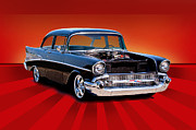 Chevy Coupe Prints - 1957 Chevy Coupe Print by Dave Koontz