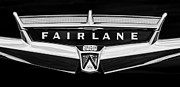 Collector Cars Posters - 1957 Ford Fairlane Convertible Emblem Poster by Jill Reger